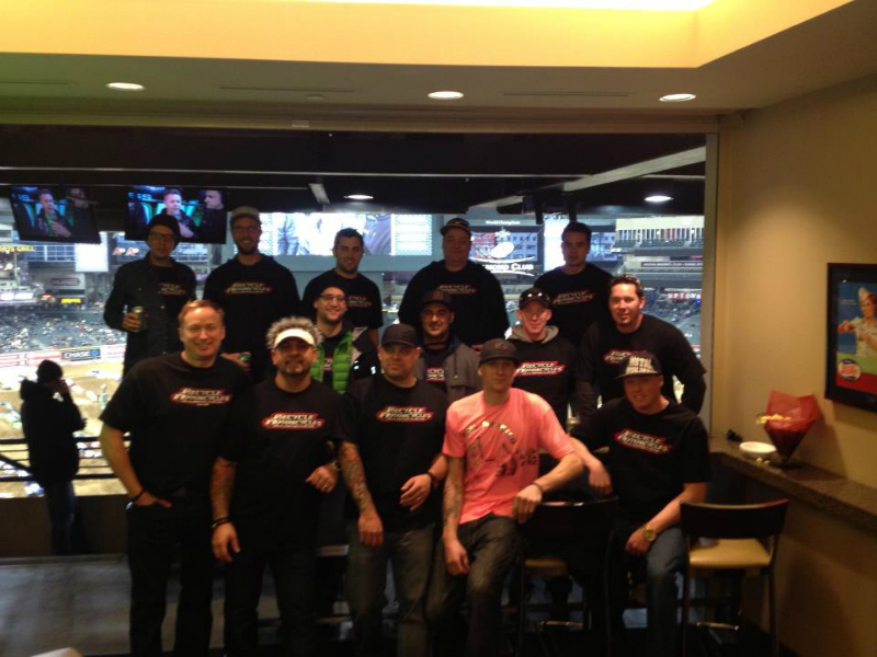 THE GANG AT PHX SUPERCROSS